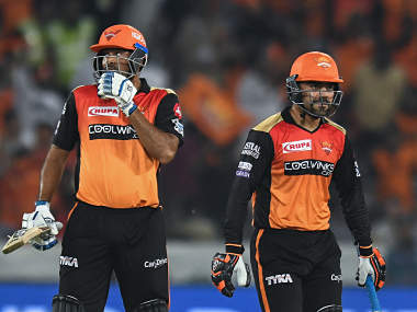 Sunrisers Hyderabad's Vijay Shankar and Rashid Khan played eye-catching cameos to steal the game from Rajasthan. AFP
