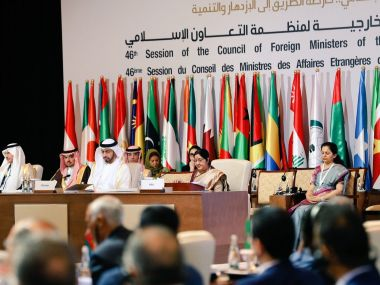At OIC Summit without naming Pakistan Sushma Swaraj says fight against terrorism not any religion States that harbour terrorists must be isolated