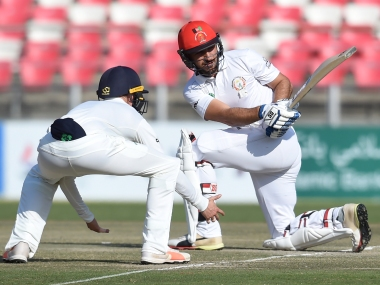 Afghanistan's batsman Rahmat Shah remained unbeaten on 22 at stumps on Day 1. AFP