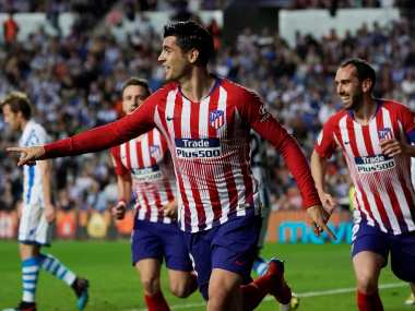 LaLiga Atletico Madrid keep title hopes alive with Alvaro Moratainspired win over Real Sociedad Valencia see off Athletic Bilbao