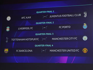 Champions League Manchester United draw Barcelona in quarterfinals City to take on Tottenham in allEnglish clash