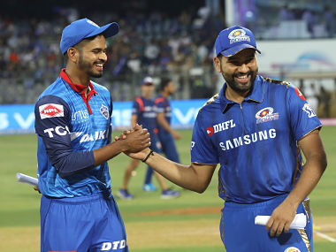 Rohit Sharma (R) will captain MI while Shreyas Iyer will lead DC. Sportzpics