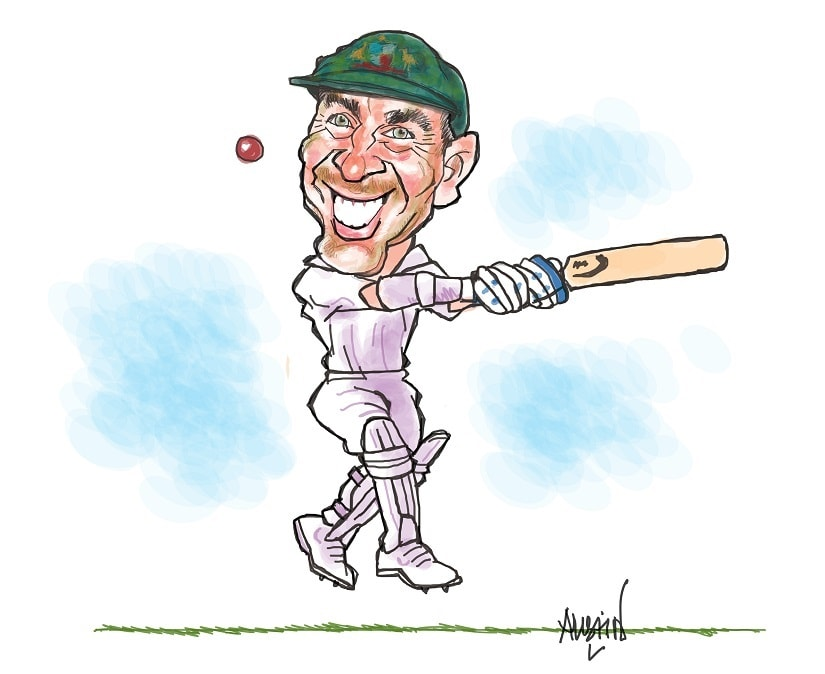 Langer is a stickler for discipline but he believes that players need to enjoy what they are doing. Illustration courtesy Austin Coutinho