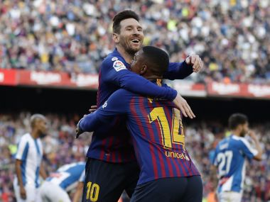 LaLiga Lionel Messis sublime secondhalf brace maintains Barcelonas lead at the top Atletico Madrid thrash Alaves