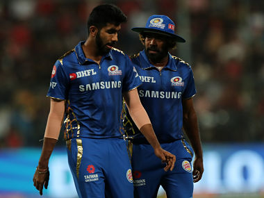Jasprit Bumrah and Lasith Malinga in action against RCB. Sportzpics