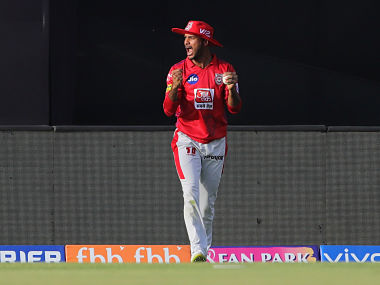 Mayank Agarwal of Kings XI Punjab takes the catch to dismiss Kieron Pollard of Mumbai Indians during match 9 of the Vivo Indian Premier League Season 12, 2019 between the Kings XI Punjab and the Mumbai Indians held at the IS Bindra Stadium, Mohali on the 30th March 2019 Photo by: Deepak Malik /SPORTZPICS for BCCI