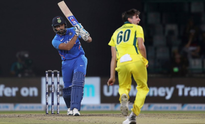 Rohit Sharma became the joint third fastest to reach 8000 career runs in ODI cricket as he scored 56 in 5th ODI. AP