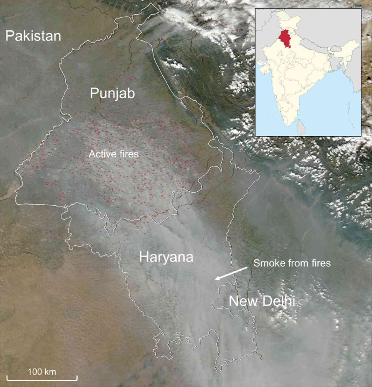 Stubble burning costing India 1529 billion in health expenses over five years Study