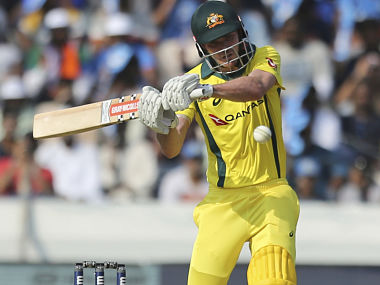 Australia's Ashton Turner bats during the first one-day international cricket match between India and Australia in Hyderabad, India, Saturday, March 2, 2019. (AP Photo/Mahesh Kumar A.)