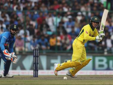 Usman Khawaja sealed a World Cup for himself after scoring 383 runs in the five-match ODI series against India. AP