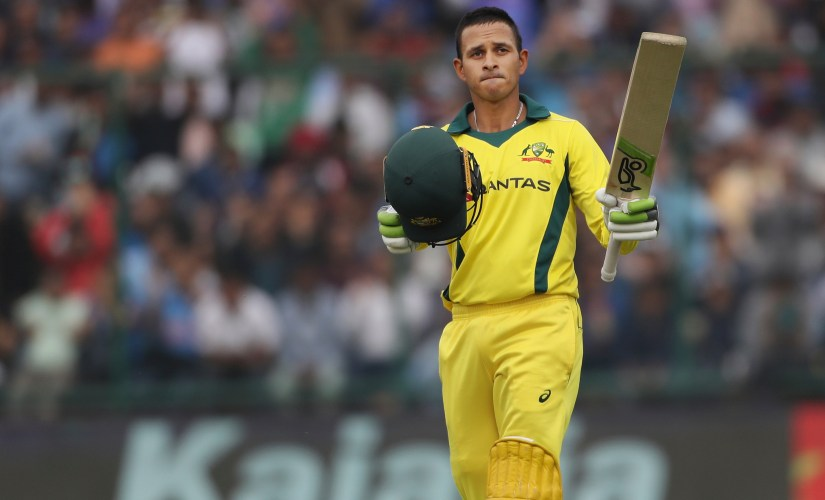 Usman Khawaja scored the second century of the series at Delhi to help Australia clinch the series. AP