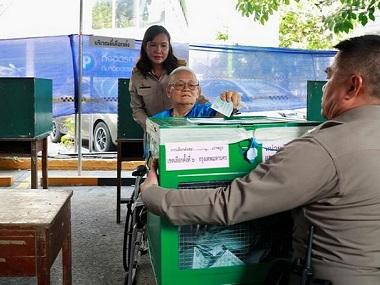 Thailand electorate votes in general elections after nearly five years of military rule exiled exPM Thaksin Shinawatra in fray