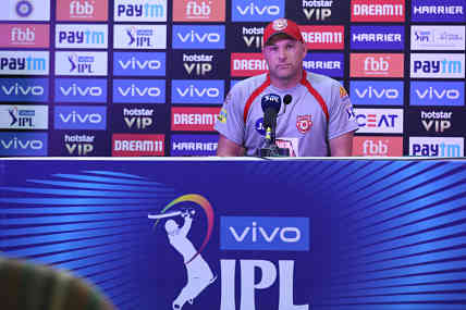 Kings XI Punjab bowling coach Ryan Harris speaks during the post match press conference. Sportzpics