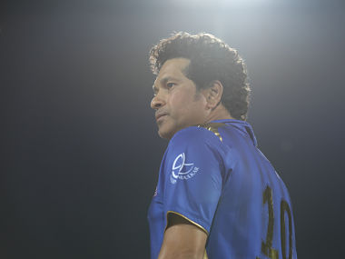 Sachin Tendulkar of Mumbai Indians during match 34 of the Vivo Indian Premier League Season 12, 2019 between the Delhi Capitals and the Mumbai Indians held at the Feroz Shah Kotla Ground, Delhi on the 18th April 2019 Photo by: Arjun Singh /SPORTZPICS for BCCI
