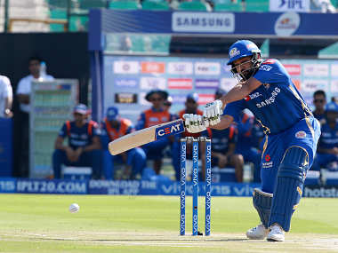 Mumbai Indians skipper Rohit Sharma in action against Rajasthan Royals. Sportzpics