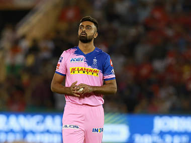 Rajasthan Royals' Jaydev Unadkat in action against Kings XI Punjab. Sportzpics
