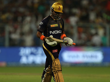 Robin Uthappa of Kolkata Knight Riders walks back to the pavilion after getting dismissed against RCB. Sportzpics