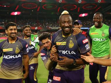 Andre Russell plays for the Kolkata Knight Riders in the IPL. Sportzpics