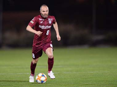 Vissel Kobes Andres Iniesta says he will relish the honour of facing former club Barcelona in friendly clash