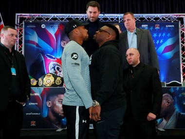 Anthony Joshuas United States debut in doubt after opponent Jarrell Miller fails doping test