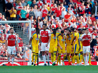 Premier League Sloppy Arsenals topfour ambitions suffer setback as Gunners slump to shock defeat against Crystal Palace