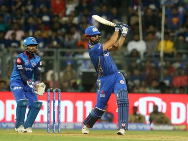 Ben Cutting of Mumbai Indians  plays a shot during match 3 of the Vivo Indian Premier League Season 12, 2019 between the Mumbai Indians and the Delhi Capitals held at the Wankhede Stadium in Mumbai on the 24th  March 2019 Photo by: Vipin Pawar /SPORTZPICS for BCCI