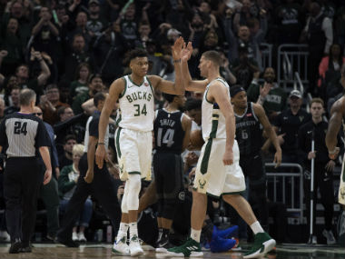 NBA Playoffs 2019 Bucks Rockets inch closer to conference semifinals with wins Kyrie Irving leads late fightback for Celtics