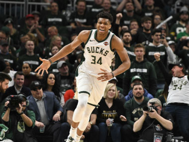 NBA Playoffs 2019 Giannis Antetokounmpo stars in Bucks win over Pistons Celtics shrug off Pacers in lowscoring clash