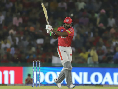Despite his unbeaten 99, Chris Gayle was guilty of taking the foot off pedal in middle overs. Sportzpics