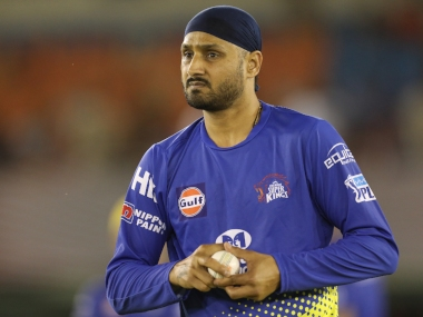 Harbhajan Singh of the Chennai Superkings during match twelve of the Vivo Indian Premier League 2018 (IPL 2018) between the Kings XI Punjab and the Chennai Super Kings held at the Punjab Cricket Association IS Bindra Stadium in Mohali on the 15th April 2018. Photo by: Arjun Singh / IPL/ SPORTZPICS