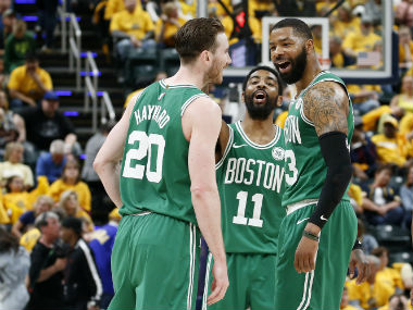 NBA Playoffs 2019 Celtics complete firstround sweep of Pacers Raptors Warriors secure victories to go 31 up