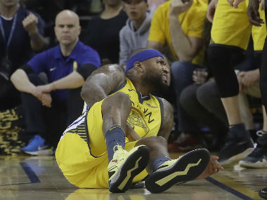 NBA Playoffs 2019 Warriors centre DeMarcus Cousins faces indefinite layoff after injuring quadriceps muscle