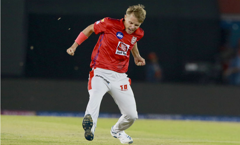 Sam Curran turned out to be KXIP's unlikely hero as he followed his useful runs with an unheralded hat-trick. Image: Sportzpics