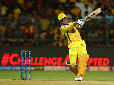 MS Dhoni is action against RCB at the M Chinnaswamy Stadium. Sportzpics