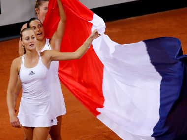 Fed Cup 2019 Former foes Caroline Garcia and Kristina Mladenovic unite to lead France into final against Australia