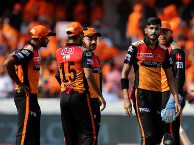 Khaleel Ahmed of Sunrisers Hyderabad celebrates after taking a wicket. Sportzpics