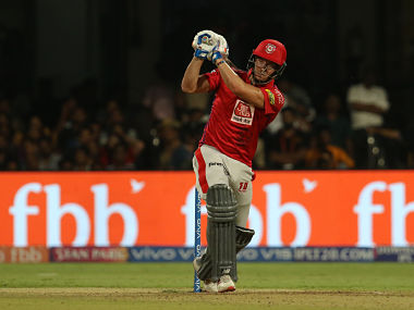 David Miller of Kings XI Punjab in action against Royal Challengers Bangalore. Sportzpics