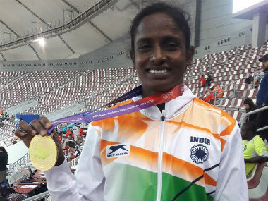 Asian Athletics Championships Gomathi Marimuthu Tajinder Pal Singh Toor up the ante with gold Dutee Chand disappoints