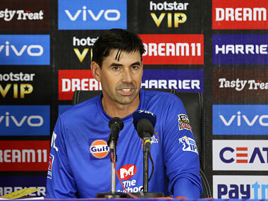 Chennai Super Kings coach Stephen Fleming speaks at the post match press conference. Sportzpics