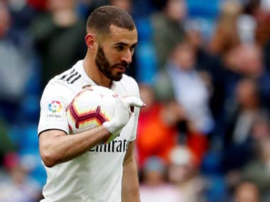 LaLiga Karim Benzemas rich vein of form continues as French strikers hattrick powers Real Madrid to victory against Athletic Bilbao