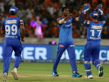 Keemo Paul took three wickets for 17 runs to derail Hyderabad's chase. Sportzpics