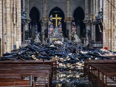 Like a bombing Daylight reveals extent of NotreDame damage as blaze leaves behind piles of rubble charred debris