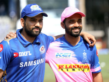 Ajinkya Rahane's (left) RR are placed second from last on the points table. Sportzpics
