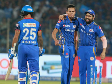 Rahul Chahar played a key role for Mumbai Indians, prising out three wickets including that of the set Shikhar Dhawan. Sportzpics
