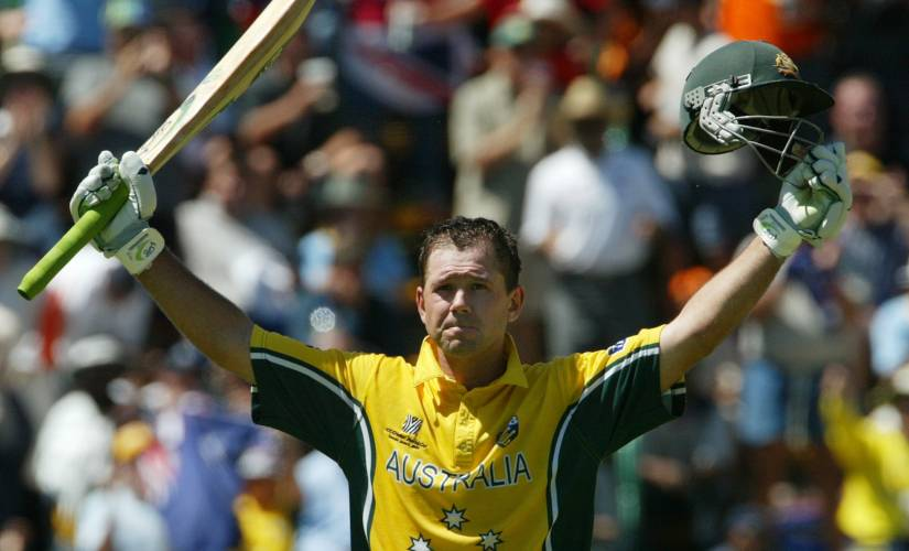 Ricky Ponting slammed 140 not out in 2003 World Cup final against India. Reuters