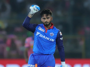 Rishabh Pant celebrates after guiding Delhi Capitals to a six-wicket win over Rajasthan Royals at Jaipur. Sportzpics