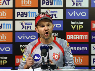Kings Xi Punjab coach Mike Hesson speaks during a press conference. Sportzpics