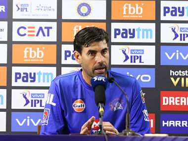CSK coach Stephen Fleming speaks at a press conference. Sportzpics