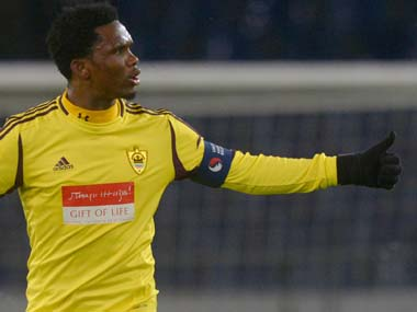 Samuel Etoo Willians former club Anzhi Makhachkala on the verge of collapse and elimination from Russian topflight