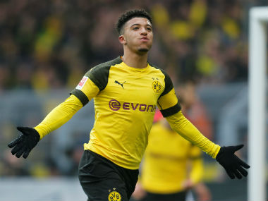 Bundesliga Jadon Sanchos firsthalf brace guides Borussia Dortmund past Mainz Moenchengladbach beat Hanover